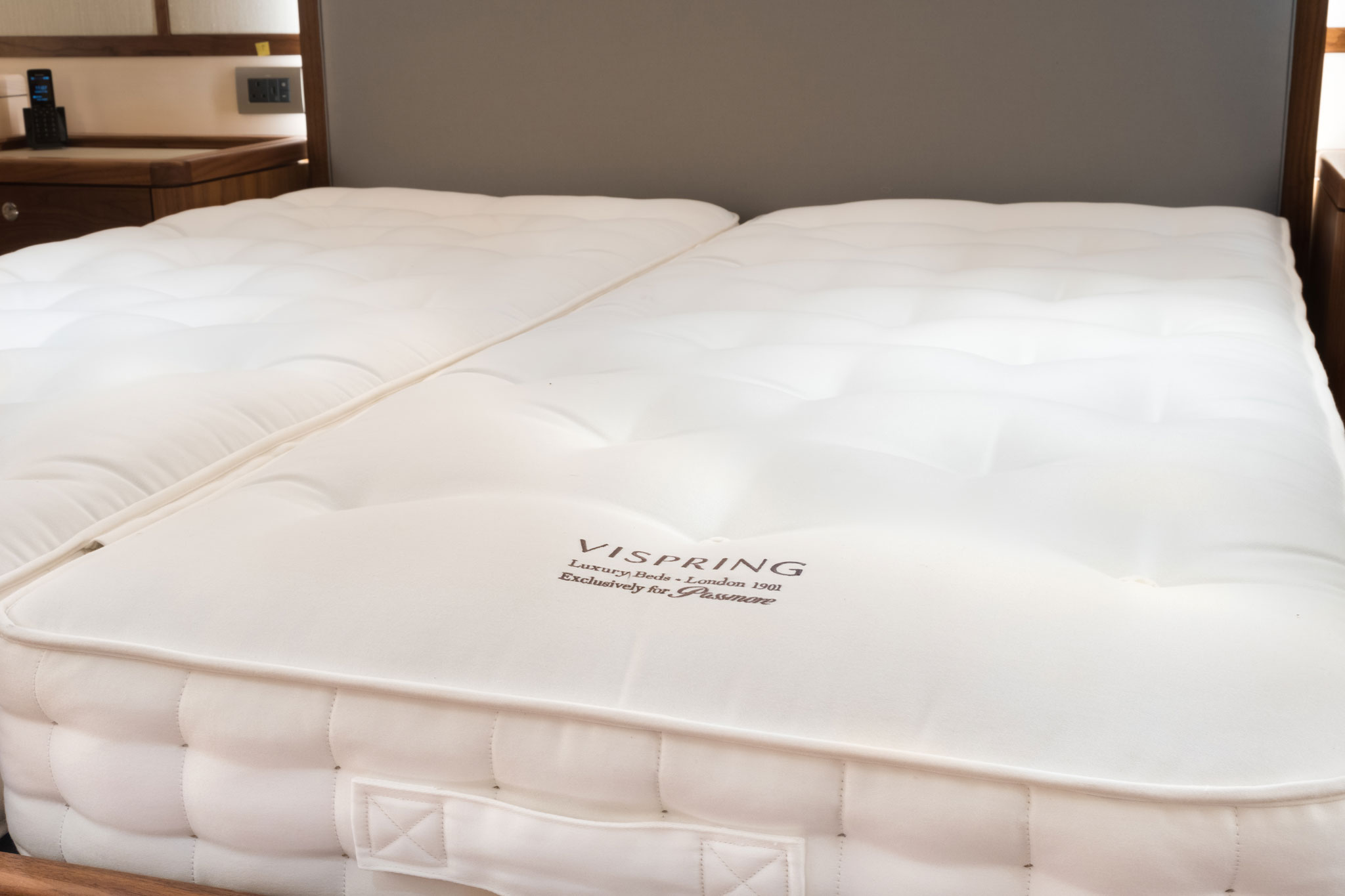 Vispring yacht mattress by Passmore
