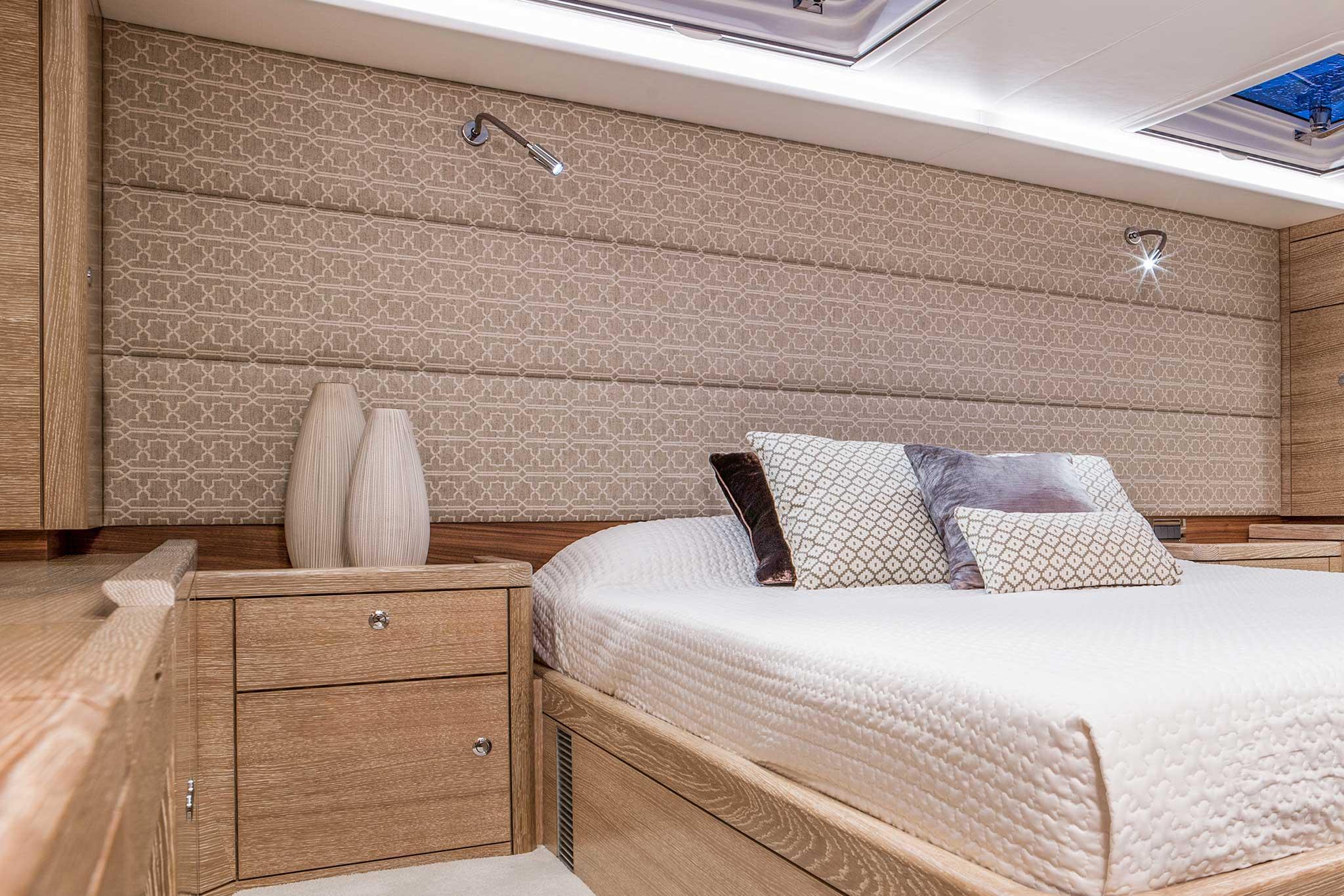 Fabric Headboard Onboard A Yacht
