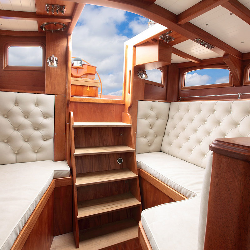 Spirit Yachts upholstery by Passmore